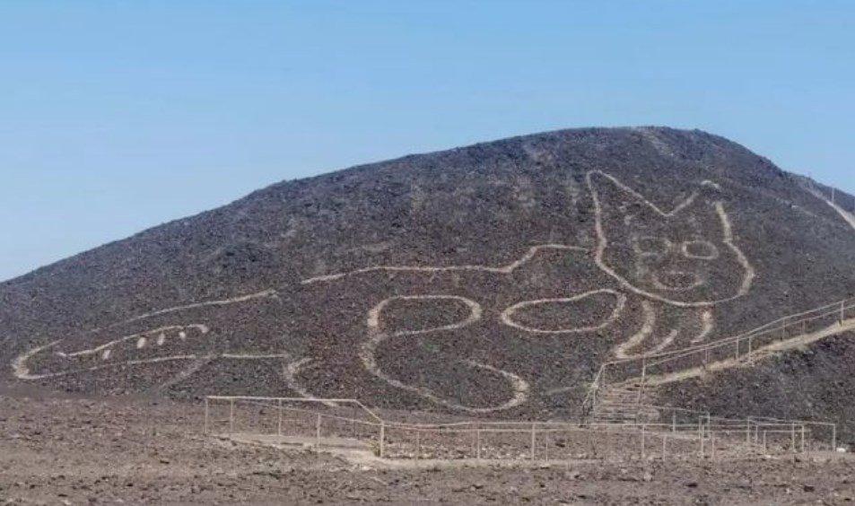 В пустыне Наска обнаружен новый геоглиф